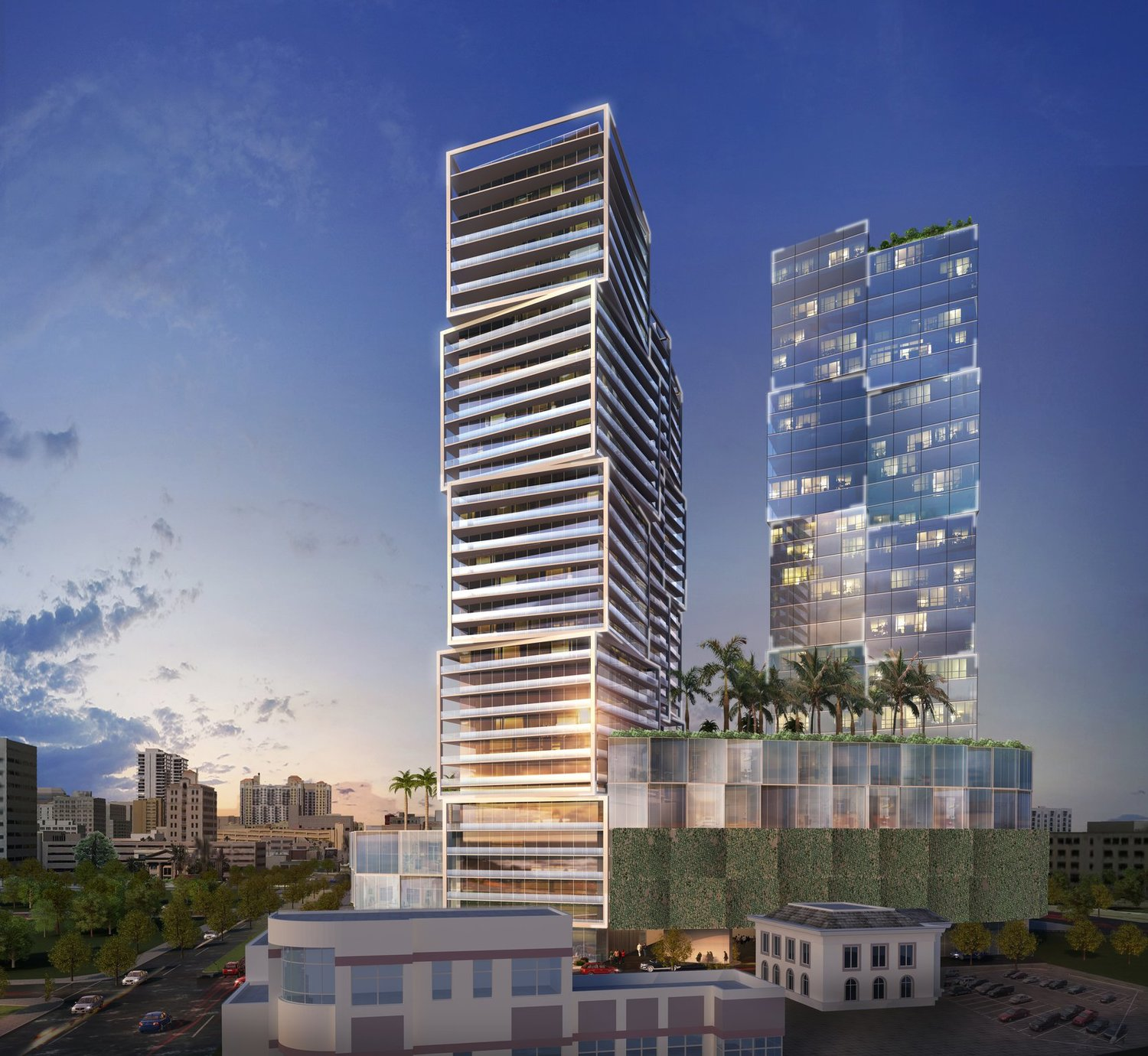 Artist's rendering of One West Palm, proposed for 550 N. Quadrille Blvd. in downtown West Palm Beach. (Contributed)